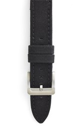 Men's Filson Tin Cloth And Leather Watch Strap Black