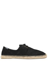 Soludos Cotton Mesh Lace Up Espadrilles