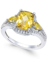 Macy's Citrine 2 1 4 Ct. T.W. And White Topaz 1 4 Ct. T.W. Ring In Sterling Silver