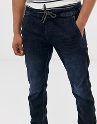 Tom Tailor Tapered Jean Jogger With Side Stripe In Blue