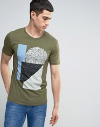 Only And Sons T Shirt With Graphic Print Kalamata Green