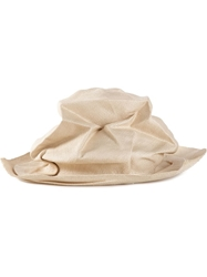 Horisaki Design And Handel Distressed Hat Nude And Neutrals