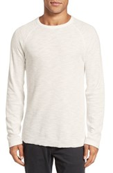 Billy Reid Men's Waffle Knit Thermal T Shirt White