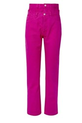 Aries Lilly Layered High Rise Straight Leg Jeans Fuchsia