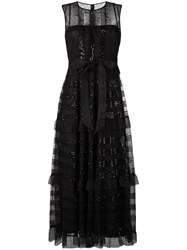 Red Valentino Microsequin Tulle Dress Black