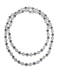 Coomi Opera Sterling Silver Necklace With Black Spinel And Diamonds 36