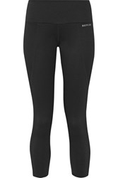 Bodyism I Am Unique Textured Stretch Jersey Leggings Black