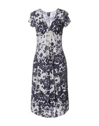 Tricot Chic Knee Length Dresses Dark Blue