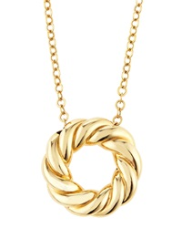 Roberto Coin 18K Yellow Gold Twisted Circle Pendant Necklace