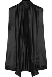 Haider Ackermann Draped Silk Satin Blouse Black