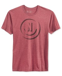Neff Men's Shadow Graphic Print Logo T Shirt Burgundy Heather