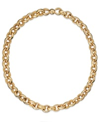 Signature Gold Rolo Chain Necklace In 14K Gold