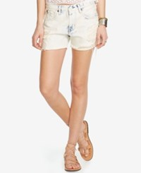 Denim And Supply Ralph Lauren Washed Relaxed Shorts White