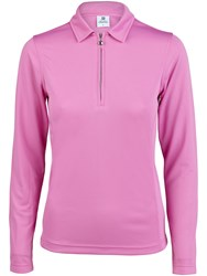 Daily Sports Macy Long Sleeve Polo Pink