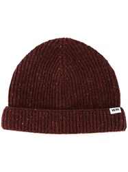 Wood Wood Knit Beanie Red