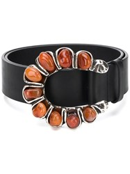 Dorothee Schumacher Crystal Embellished Buckled Belt 60