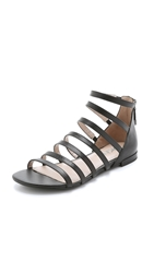 Dkny Fay Multi Strap Flat Sandals Black