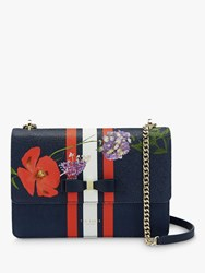 Ted Baker Tracyy Leather Cross Body Bag Dark Blue
