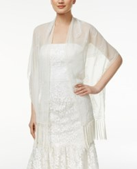 Inc International Concepts Beaded Motif Fringe Wrap Only At Macy's Ivory