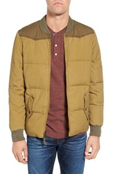 Faherty Men's Down Canvas Western Jacket