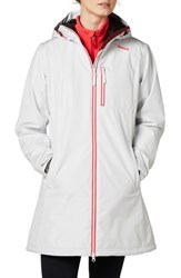 Helly Hansen 'Belfast' Long Waterproof Winter Rain Jacket Nimbus Cloud
