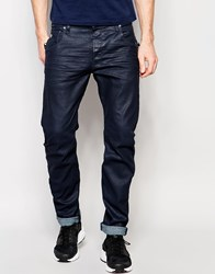 G Star G Star Jeans Arc Zip 3D Slim Fit Stretch Dark Aged Black Overdye Dk Aged Blue