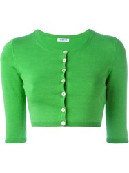 P.A.R.O.S.H. Cropped Cardigan Green