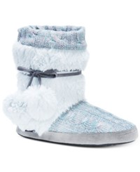 Muk Luks Delanie Boot Slippers Blue