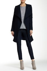 Luma Wool Blend Coat Blue