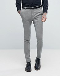 Heart And Dagger Super Skinny Trousers In Dogstooth Tweed Black White Grey