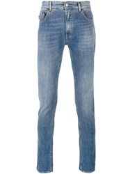 Love Moschino Patch Detail Skinny Jeans Blue