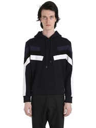 Neil Barrett Hooded Neoprene Sweatshirt With Inserts