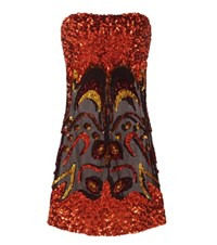 Tom Ford Sequin Embellished Mini Dress Orange