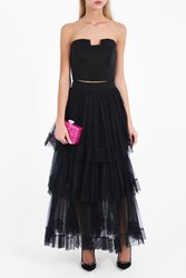 Martin Grant Women S Tiered Tulle Skirt Boutique1 Black
