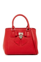 Renata Corsi Bow Detail Leather Handbag Red