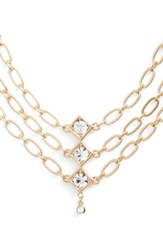 Jules Smith Designs Women's Tulum Multistrand Necklace Gold Clear