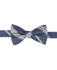 Ryan Seacrest Distinction Men's Imperial Stripe Pre Tied Bow Tie Only At Macy's Navy Yellow