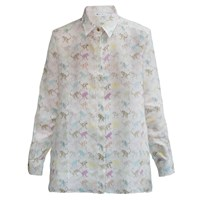 My Pair Of Jeans Monkey Printed Shirt White