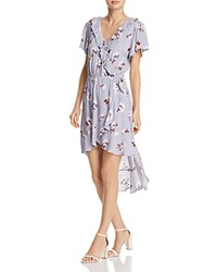 Aqua Floral Print Ruffle Dress 100 Exclusive Blue Floral