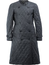 Comme Des Garcons Homme Plus Quilted Double Breasted Coat Black