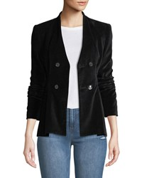 Rebecca Taylor Velveteen Double Breasted Jacket Black