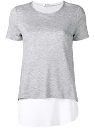 Dondup Layered T Shirt Grey
