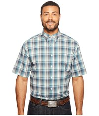 Cinch Athletic Plaid Short Sleeve White Men's Clothing