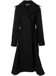 Jacquemus Flared Tailored Trench Coat Cotton Viscose Wool Black