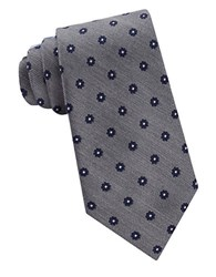 Lord And Taylor The Mens Shop Floral Dot Patterned Silk Neck Tie Navy