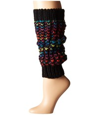 Steve Madden Colorful Leg Warmer Black Women's Knee High Socks Shoes