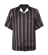 3.1 Phillip Lim Short Sleeved Striped Bowler Shirt Male Blue