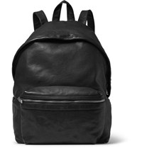 Saint Laurent Washed Leather Backpack Black