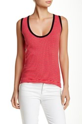 Edith A. Miller Scoop Neck Sleeveless Tank Red