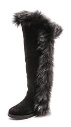 Koolaburra Sasha Ii Boots With Fur Trim Black